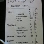 Dads Cafe Breakfast Menu