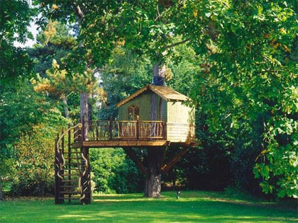 dads online great tips for building your child a treehouse. Black Bedroom Furniture Sets. Home Design Ideas